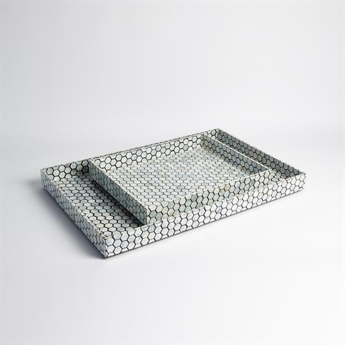 Mother of Pearl Tray-Black