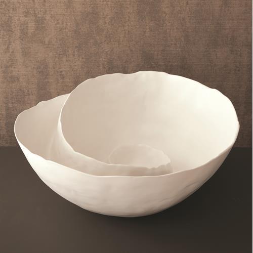Spiral Bowl-Matte White