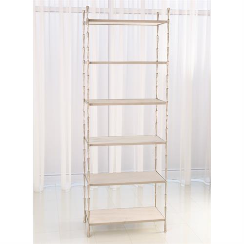 Spike Etagere-Antique Nickel w/White Marble