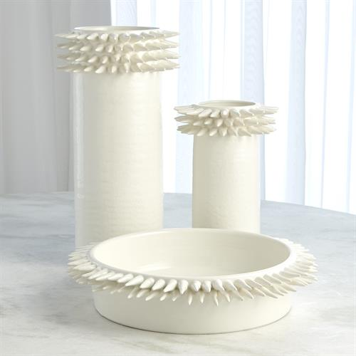 Spike Cylinder Collection-White