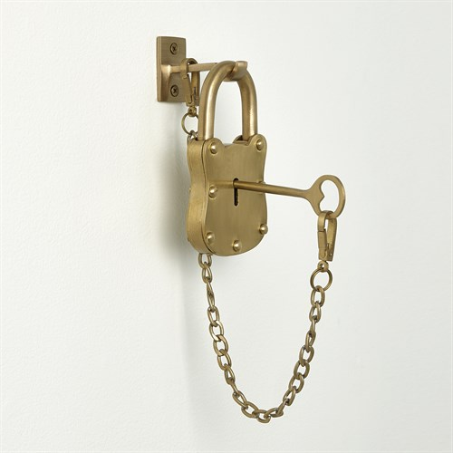 Paris Padlock-Satin Brass