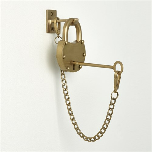 London Padlock-Satin Brass