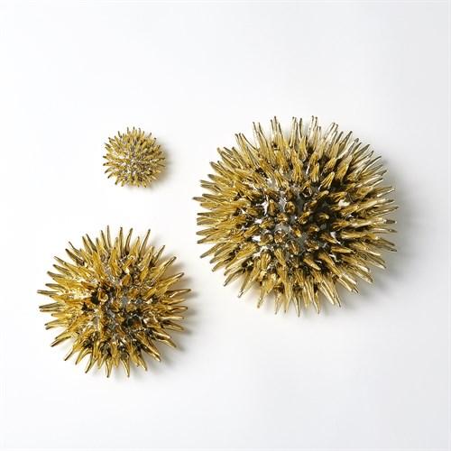 Urchin Wall Art-Gold