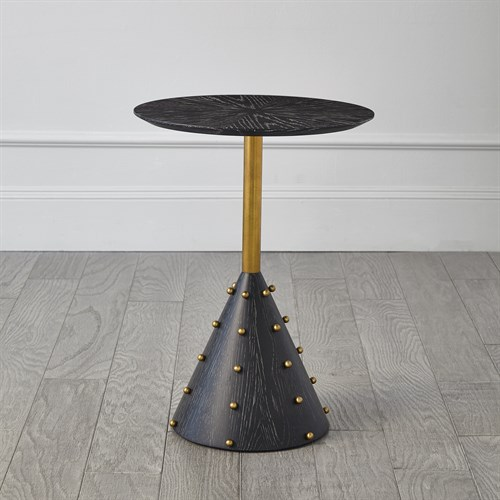 Spheres Drink Table-Ebony Cerused Oak