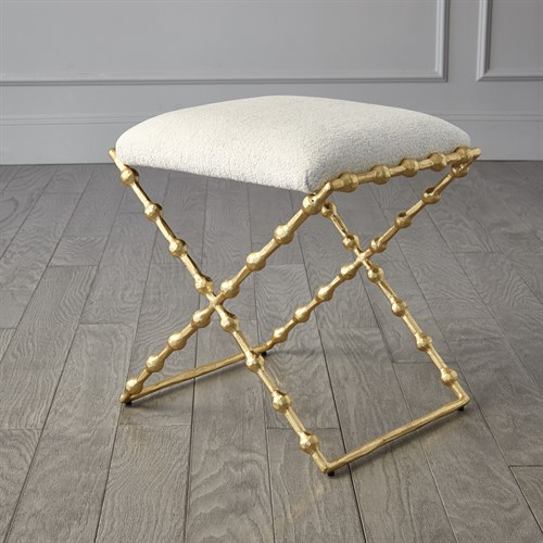 Elder Bench-Gold Leaf