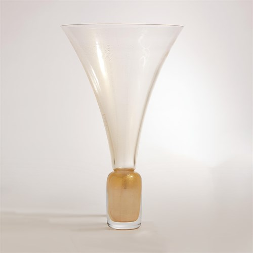 Golden Gold Trumpet Vase