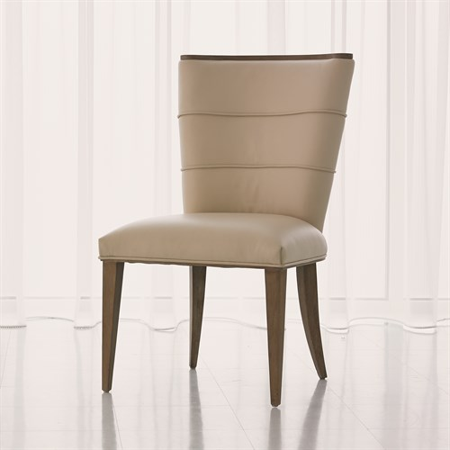 Adelaide Side Chair-Beige Leather