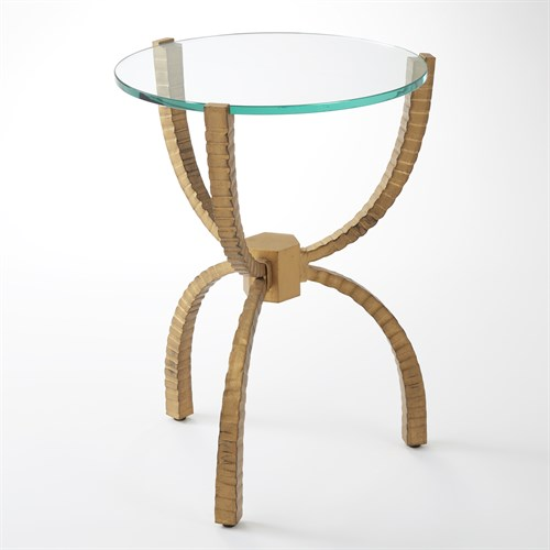 Teton Accent Table-Gold