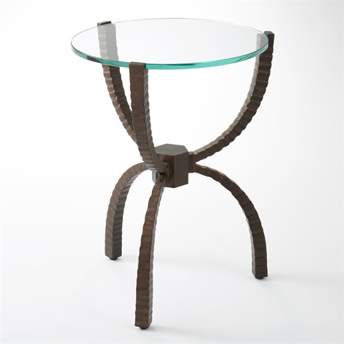 Teton Accent Table-Bronze