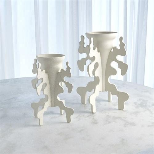 Inkblot Vase-Ivory