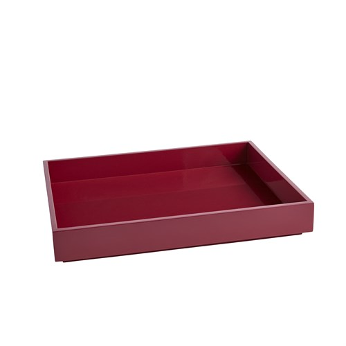 Stack Rectangle Tray Burgundy Sm