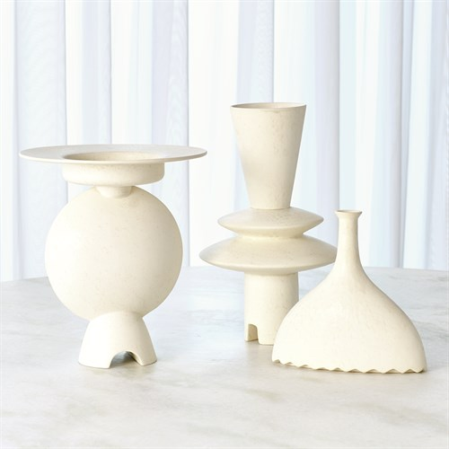 Adelyn Geometric Vase-White