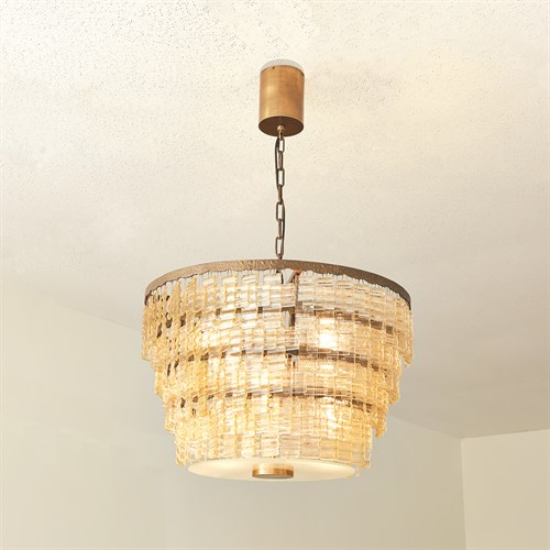 Organic Glass Chandelier-Bronze
