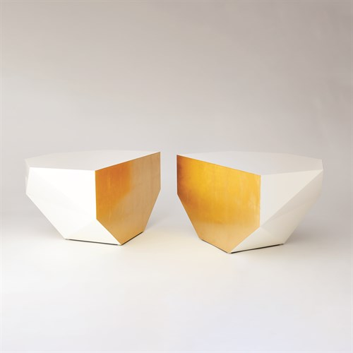 S/2 Gema Coffee Table-Ivory/Gold