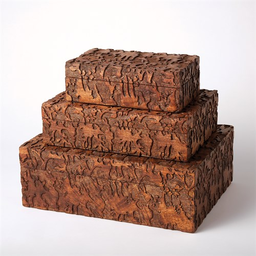 Dentwood Boxes-Weathered Brown