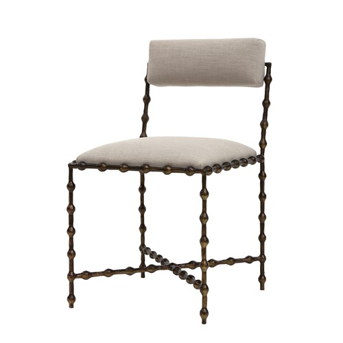 Elder Dining Chair-Bronze-COM