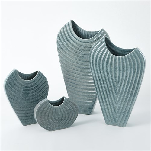 Ripple Vase-Azure