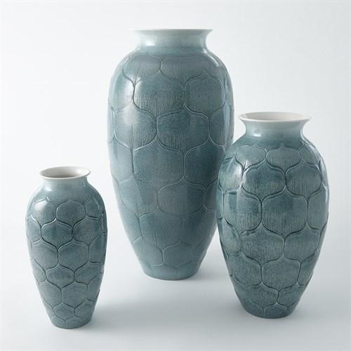 Lady Lo's Vase-Teal