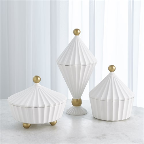 Cirque Vessel w/Lid-White