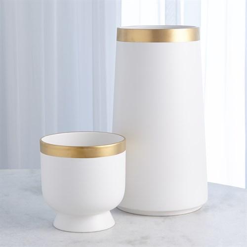 Modern Gold Banded Vase