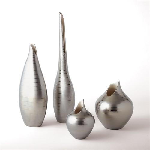 Platinum Stripe Vase