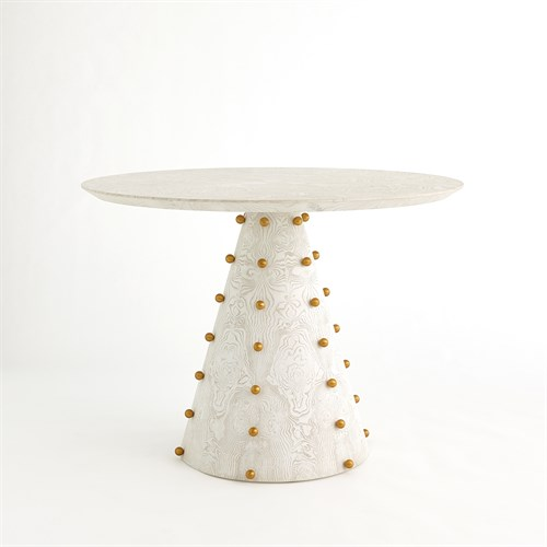 Spheres Center Table-White Burl