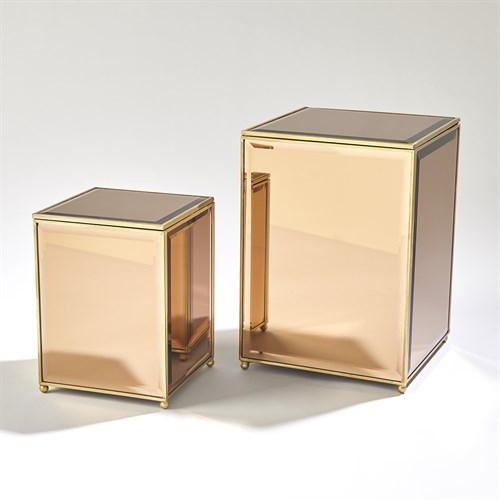 Beveled Mirror Box-Tawny