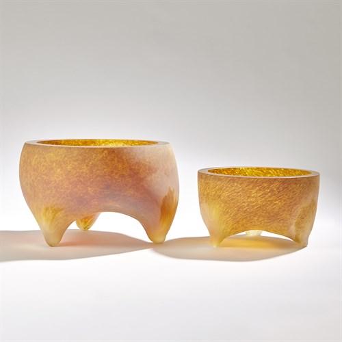 Freeform Tripod Bowls-Frosted Irys Gelp