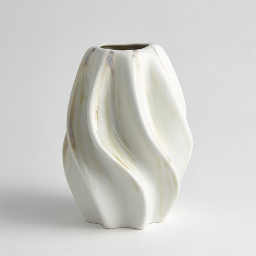 Twist Vase-Ivory