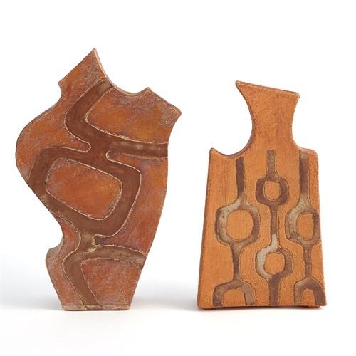 Mod Link Vase-Terracotta