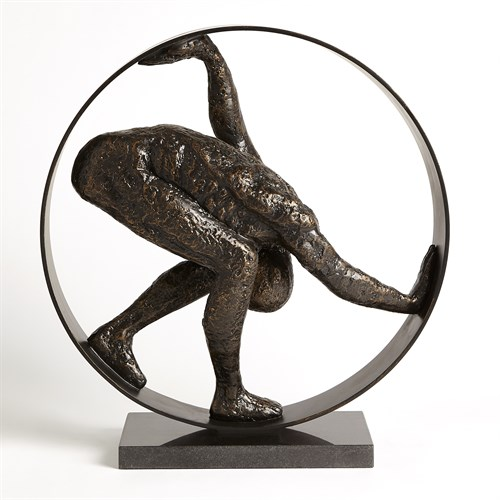 Man in Circle Sculpture-Bronze