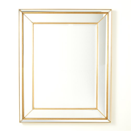 Bevel on Bevel Mirror-Gold Leaf