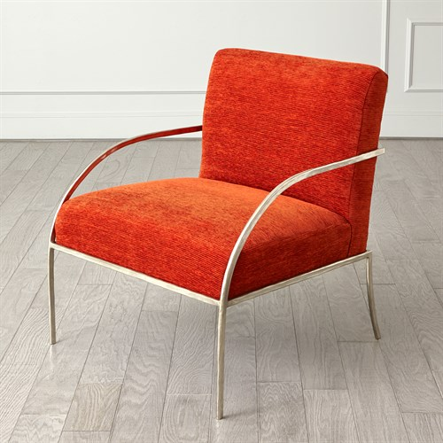 Swoop Chair-Orange-Nickel