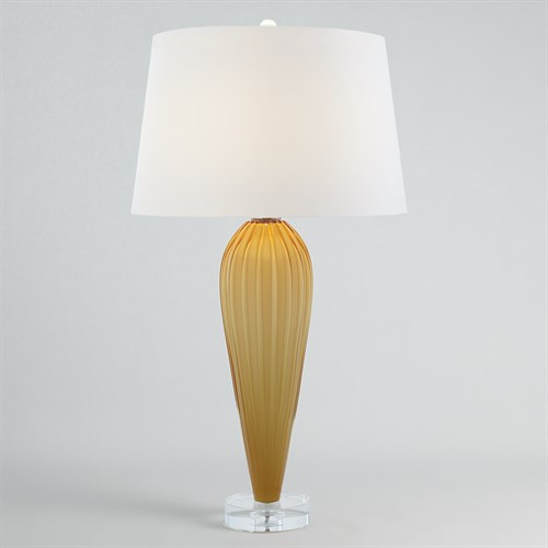 Teardrop Glass Lamp-Amber