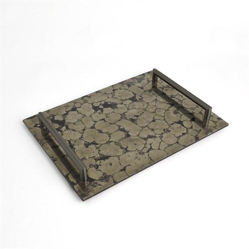 Pyrite Tray w/Bronze Handles