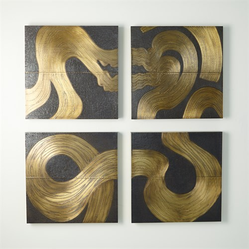 Currents Wall Panels-Brass/Bronze