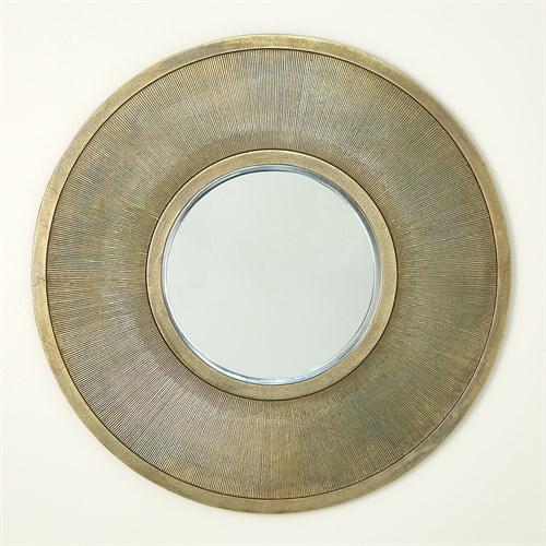 Sunray Mirror-Antique Brass