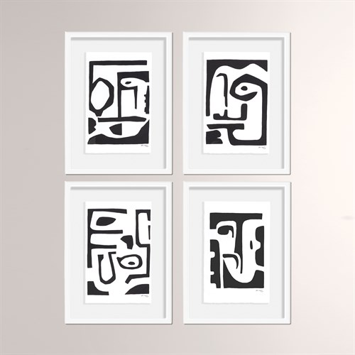 Faces and Places Framed Art-Black