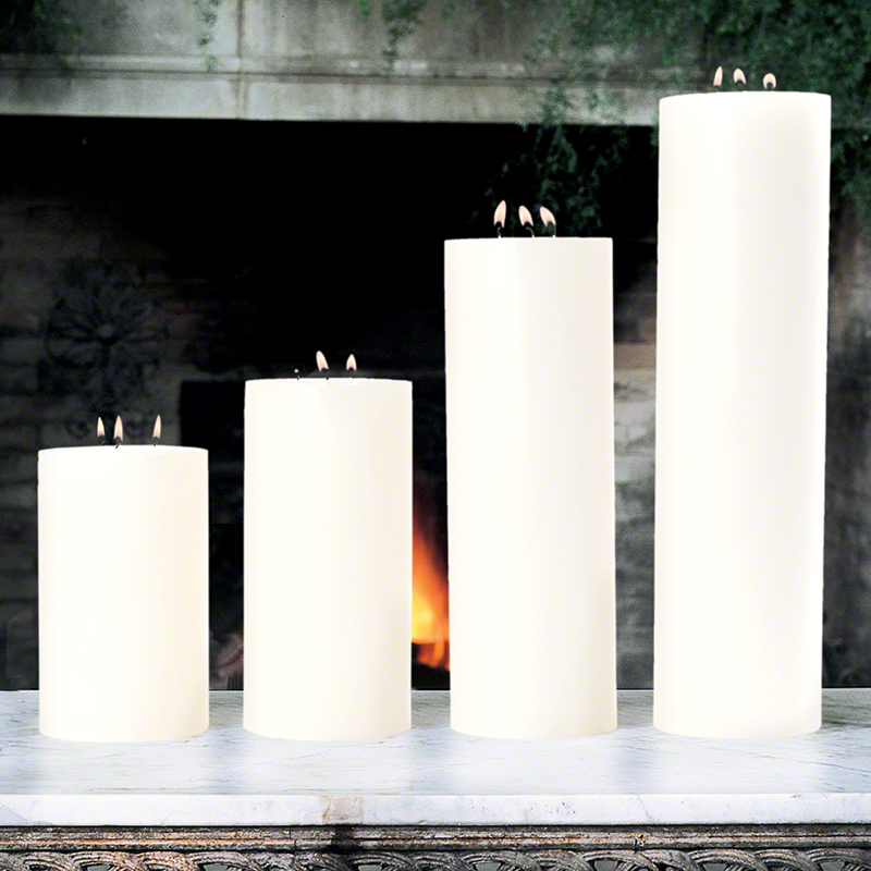 3 Wick Pillar Candle-Unscented-5