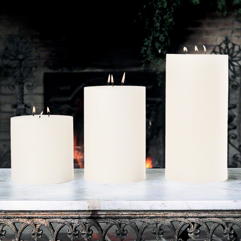 3 Wick Pillar Candle-Unscented-6