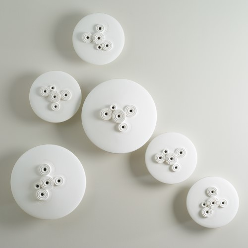 Galileo Discs-Wall Mounted-Matte White