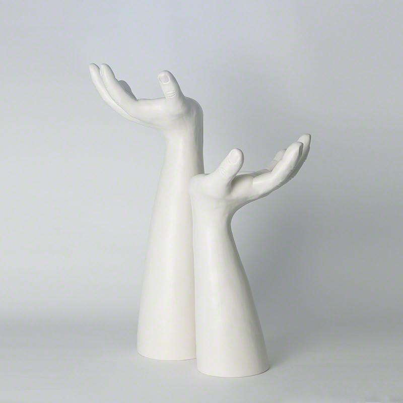 Palma Candleholders-Matte White