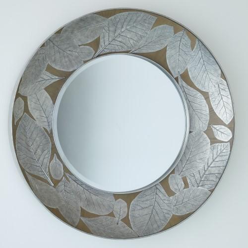 Teak Leaf Mirror