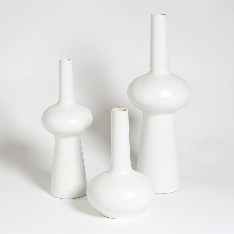 Lunar Vases-Matte White