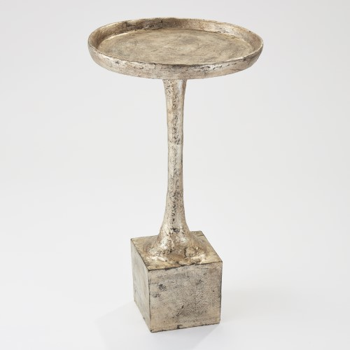 Kedge Accent Table-Silver Leaf