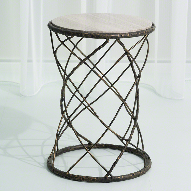 Tango Accent Table-Bronze