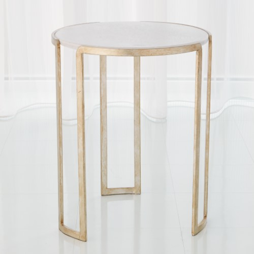 Channel Accent Table-Silver Leaf