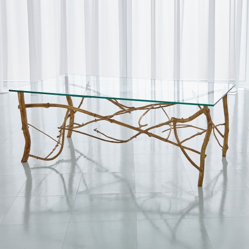 Twig Cocktail Table-Gold Leaf