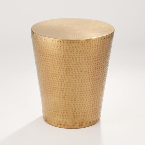Izmir Hammered Brass Side Table
