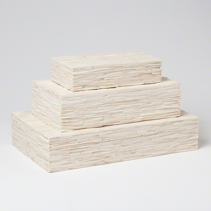 Chiseled Bone Storage Boxes